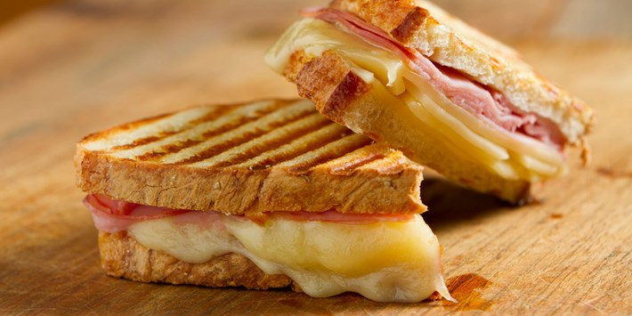 Cheese and ham croque